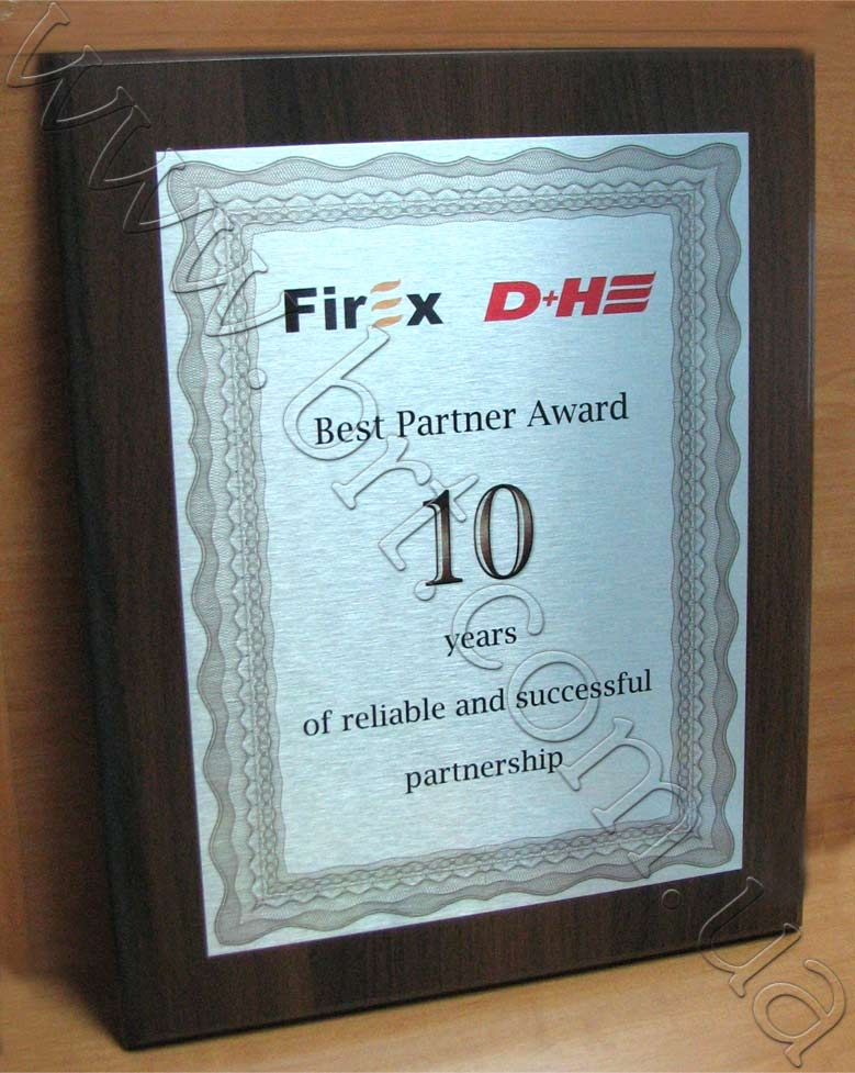 Дипломы на металле Бюро рекламных технологий диплом лучшему · диплом лучшего партнера печать на металле