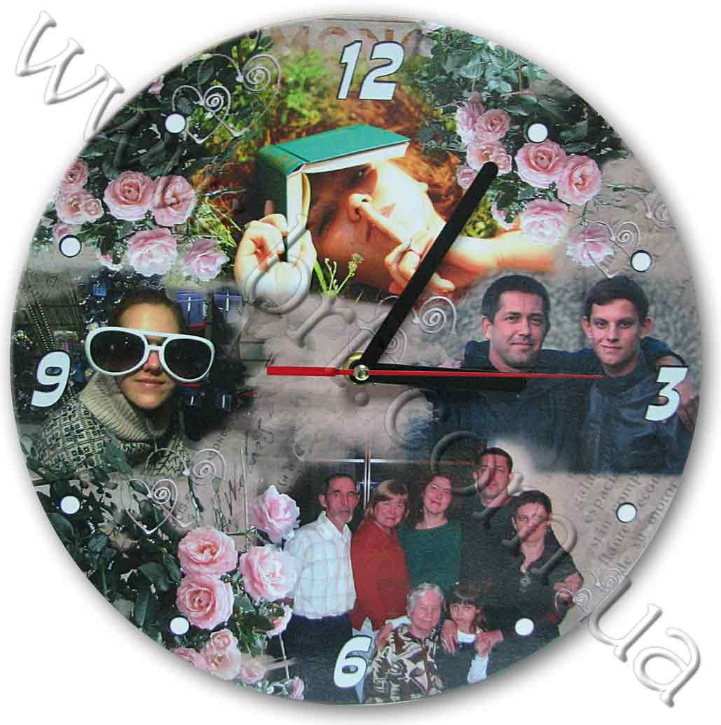 Подарки с фотографией часы 169