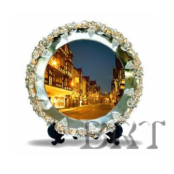 Тарелка металлическая с нанесением изображения, логотипа, надписи