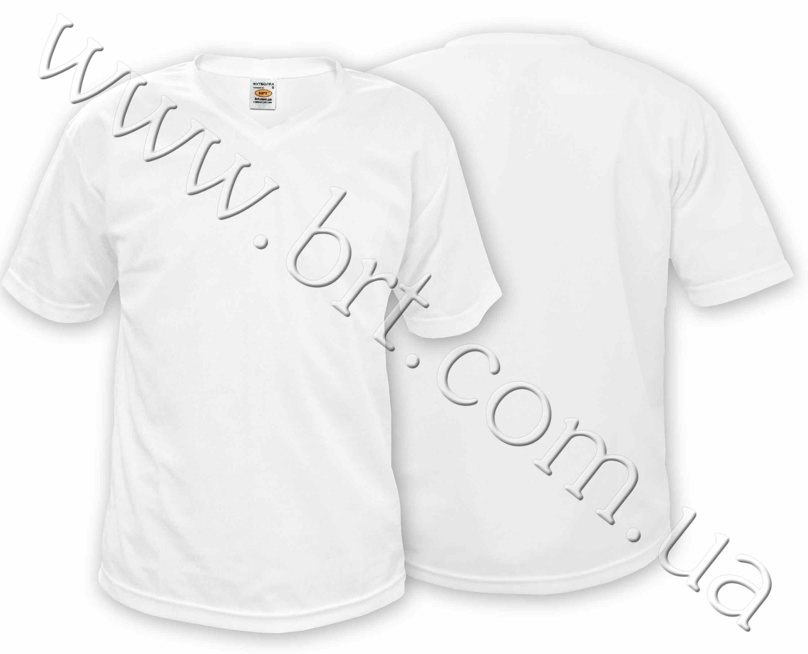 Белая футболка унисекс для сублимации