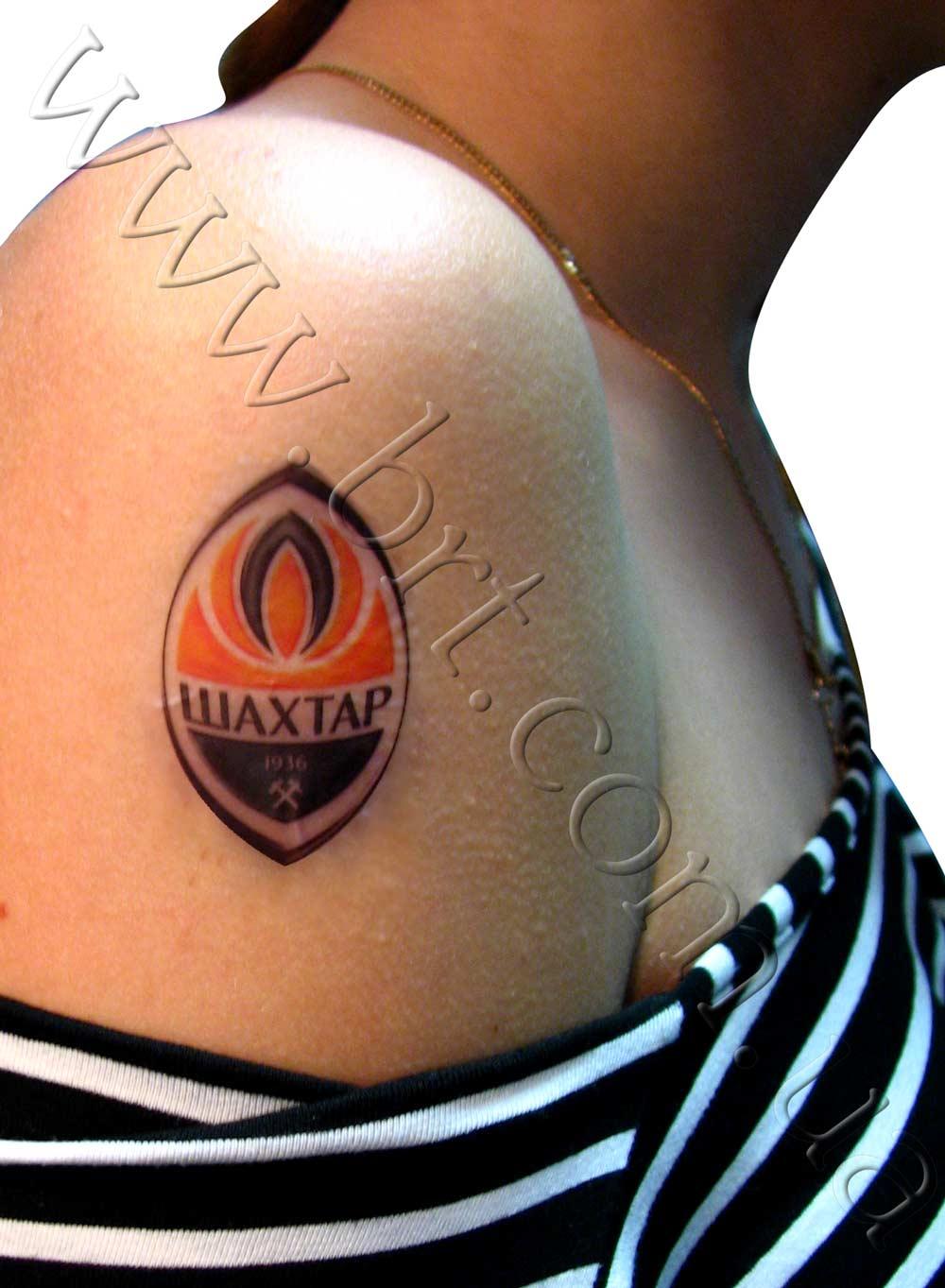 цветные татуировки футбол