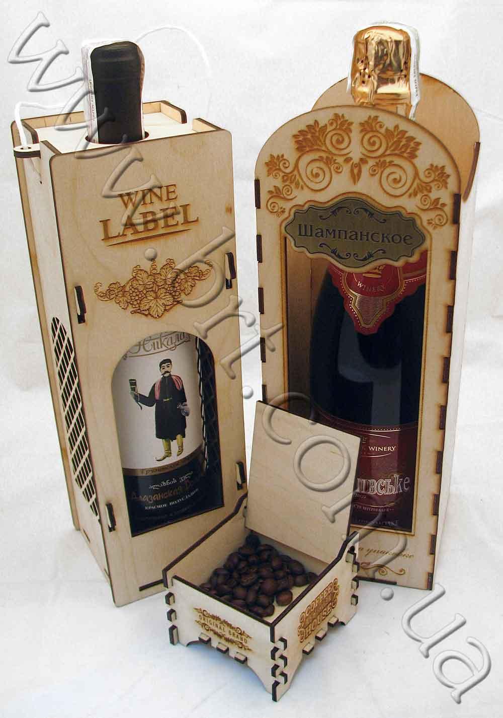 Деревянная упаковка для подарков производство