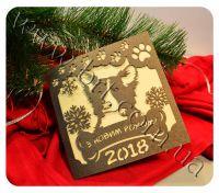 открытки с новым годом собаки