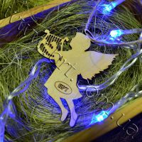 рождественский ангел из дерева